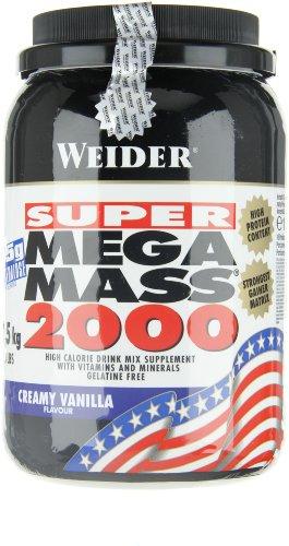 Weider Mega Mass 2000, Vanille, 1,5kg Dose - 9