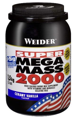 Weider Mega Mass 2000, Vanille, 1,5kg Dose - 1