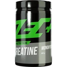 ZEC+ CREATIN Pulver MONOHYDRATE | reines Creatin Monohydrat für mehr Kraft | mehr Ausdauer | Muskelwachstum | Kraftschub | Geschmacksneutral | 500g Pulver - 1