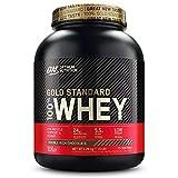 Optimum Nutrition ON Gold Standard Whey Protein Pulver, Eiweißpulver zum Muskelaufbau, natürlich enthaltene BCAA und Glutamin, Double Rich Chocolate, 73 Portionen, 2.26kg, Verpackung kann Variieren